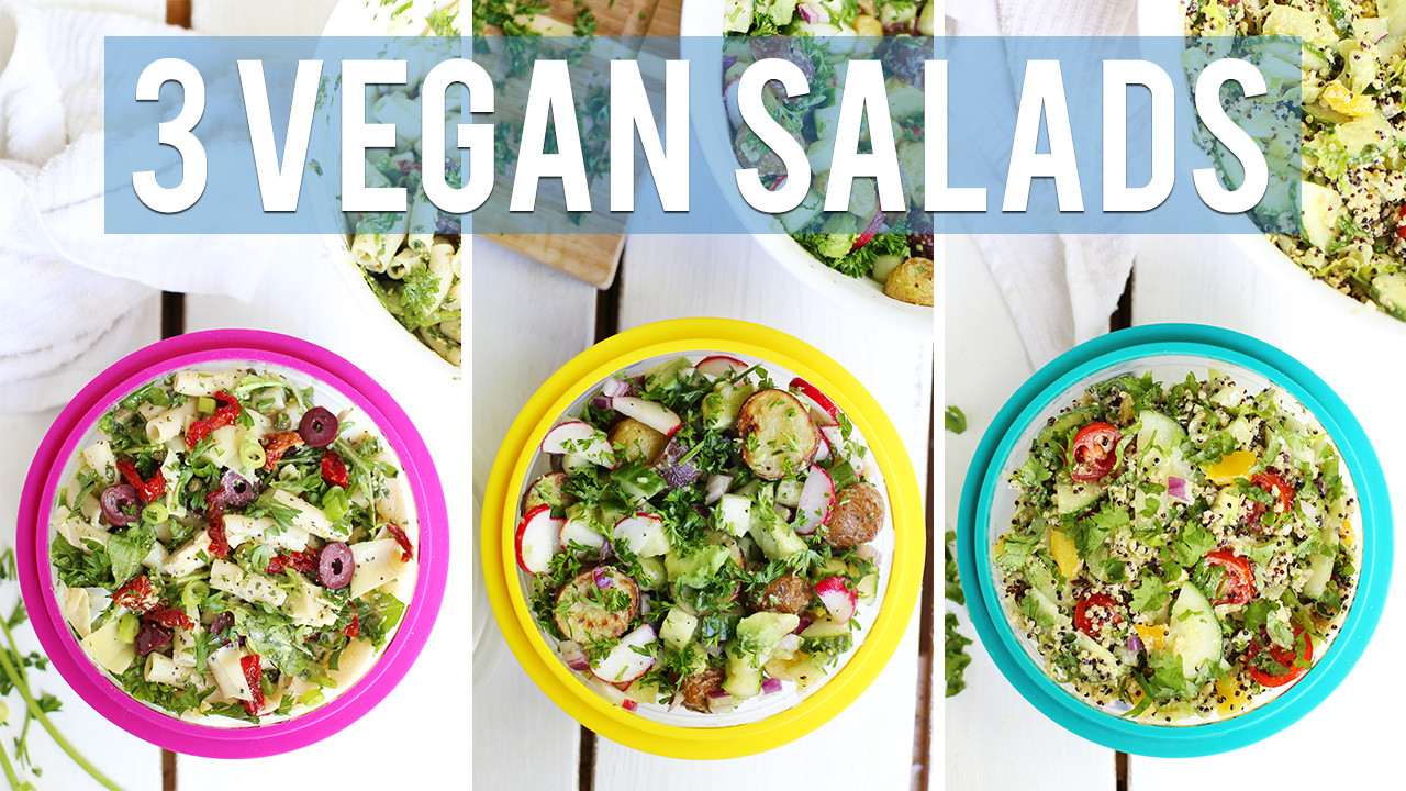 3 Vegan Back To School Salads