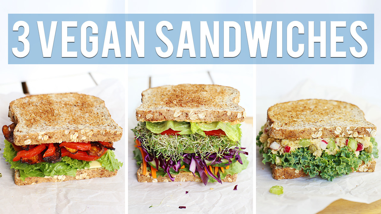 3 Vegan Sandwich Recipes