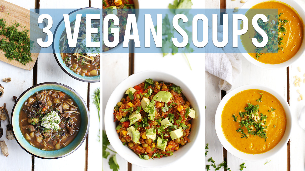 3 Easy Vegan Soup Recipes