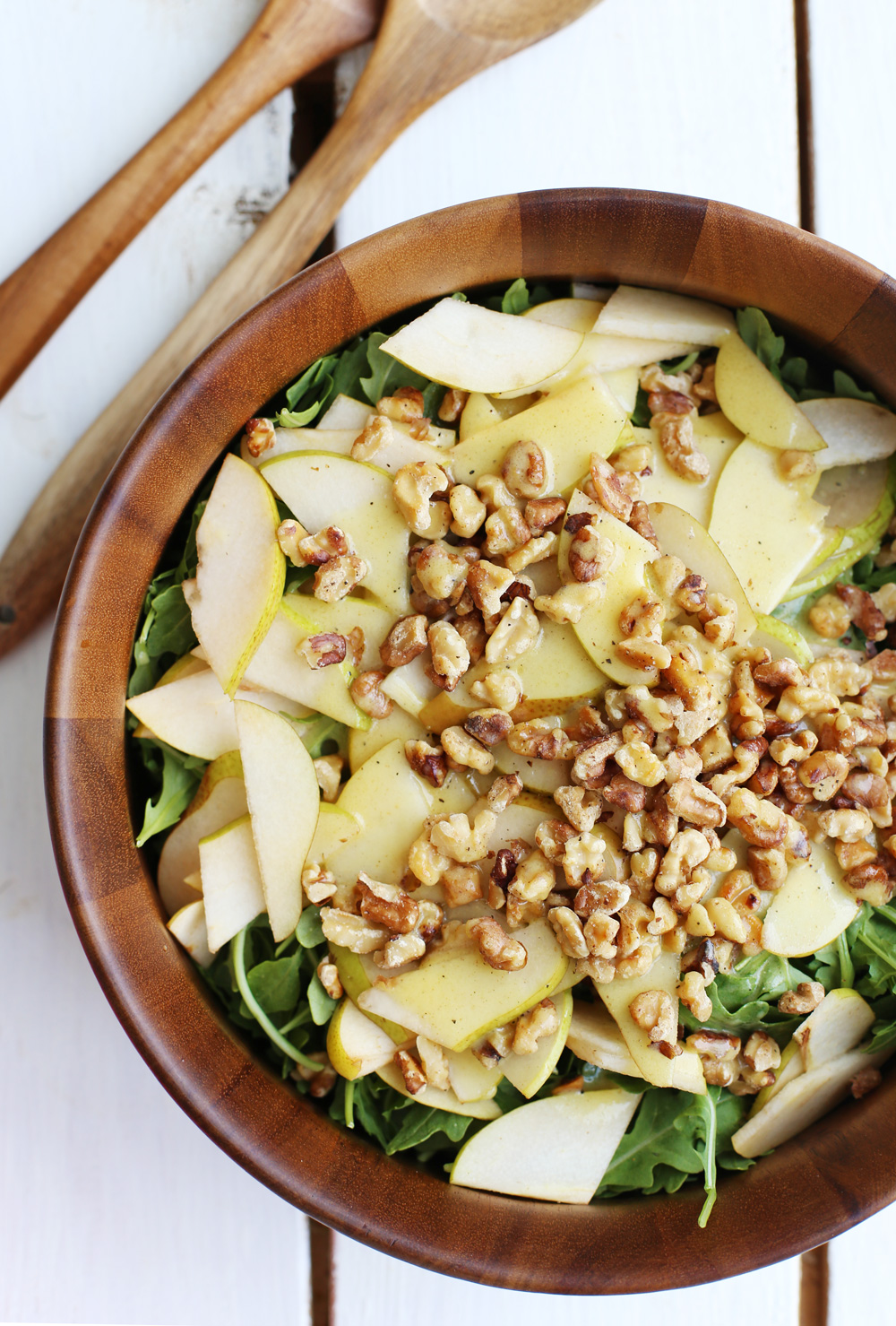 Arugula Pear Walnut Salad