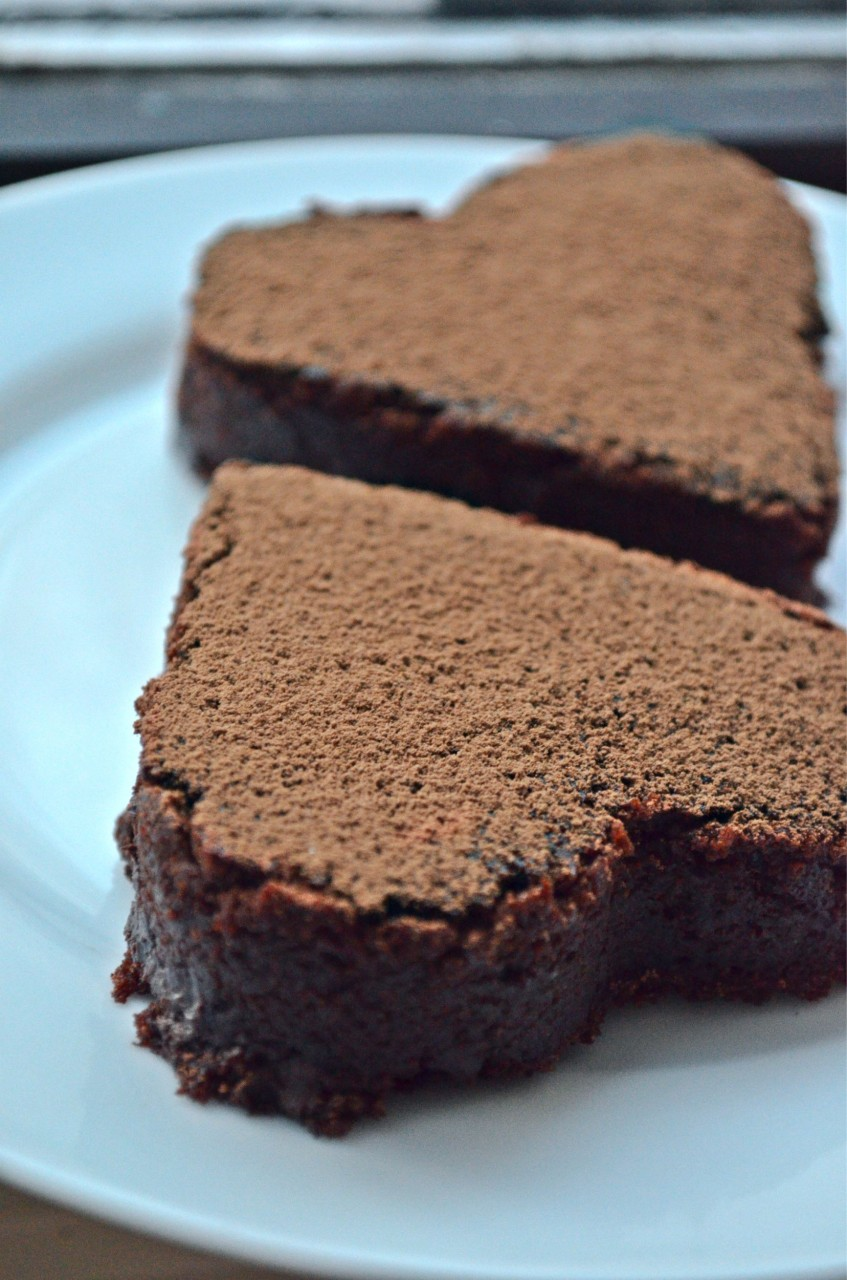 Chewy Chocolate Brownie Hearts Recipe by Fablunch
