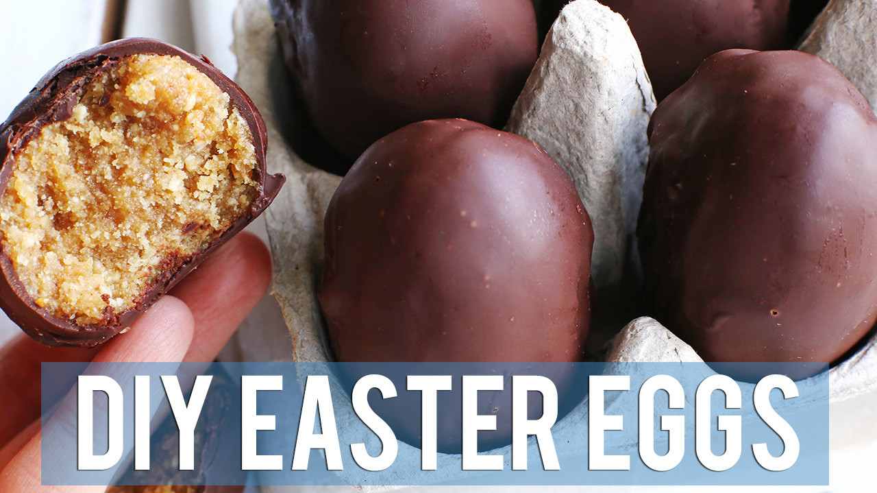 Vegan Peanut Butter & Chocolate Eggs