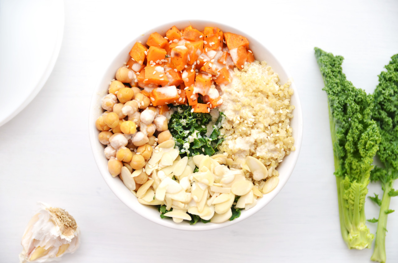 Healthy Kale Salad Bowl