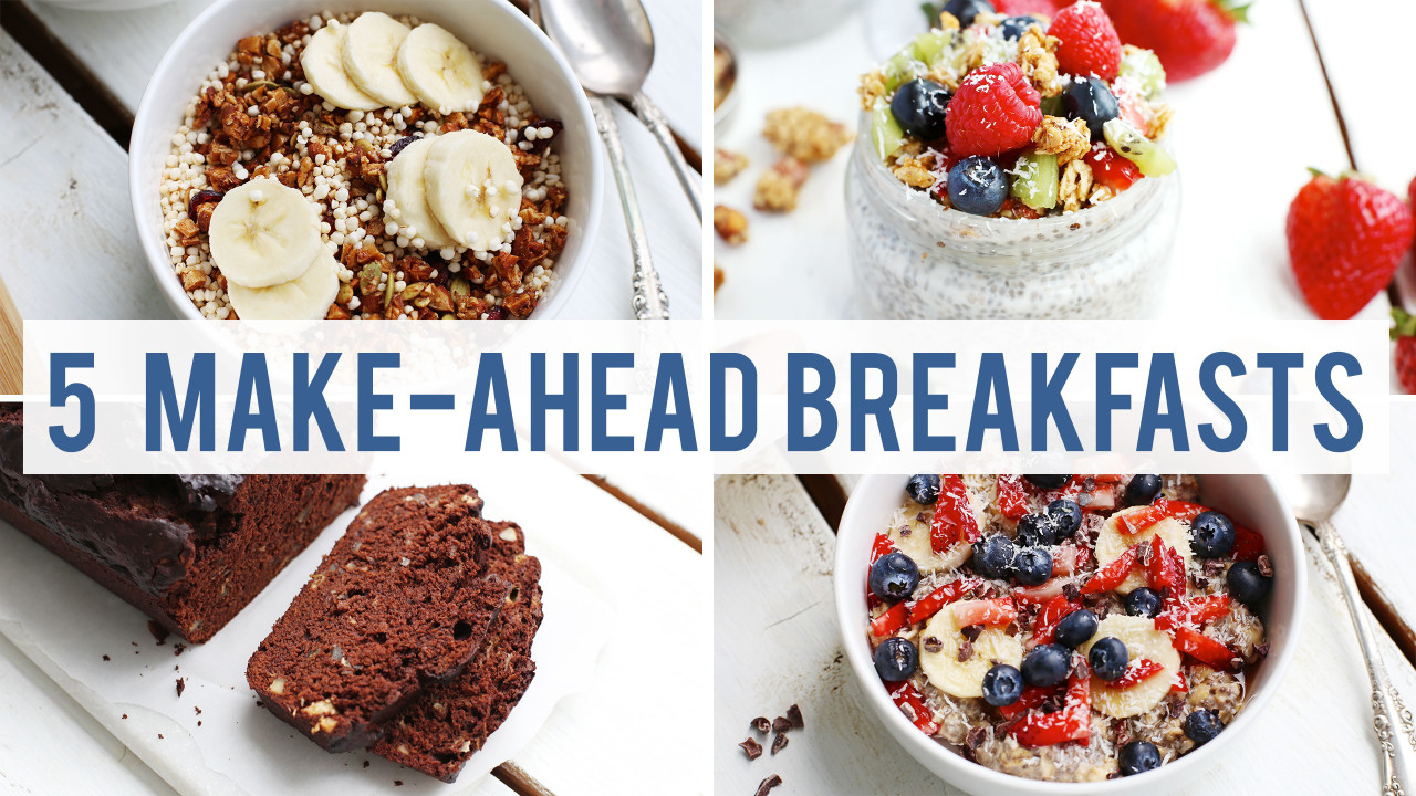 5 Healthy Make-Ahead Breakfasts