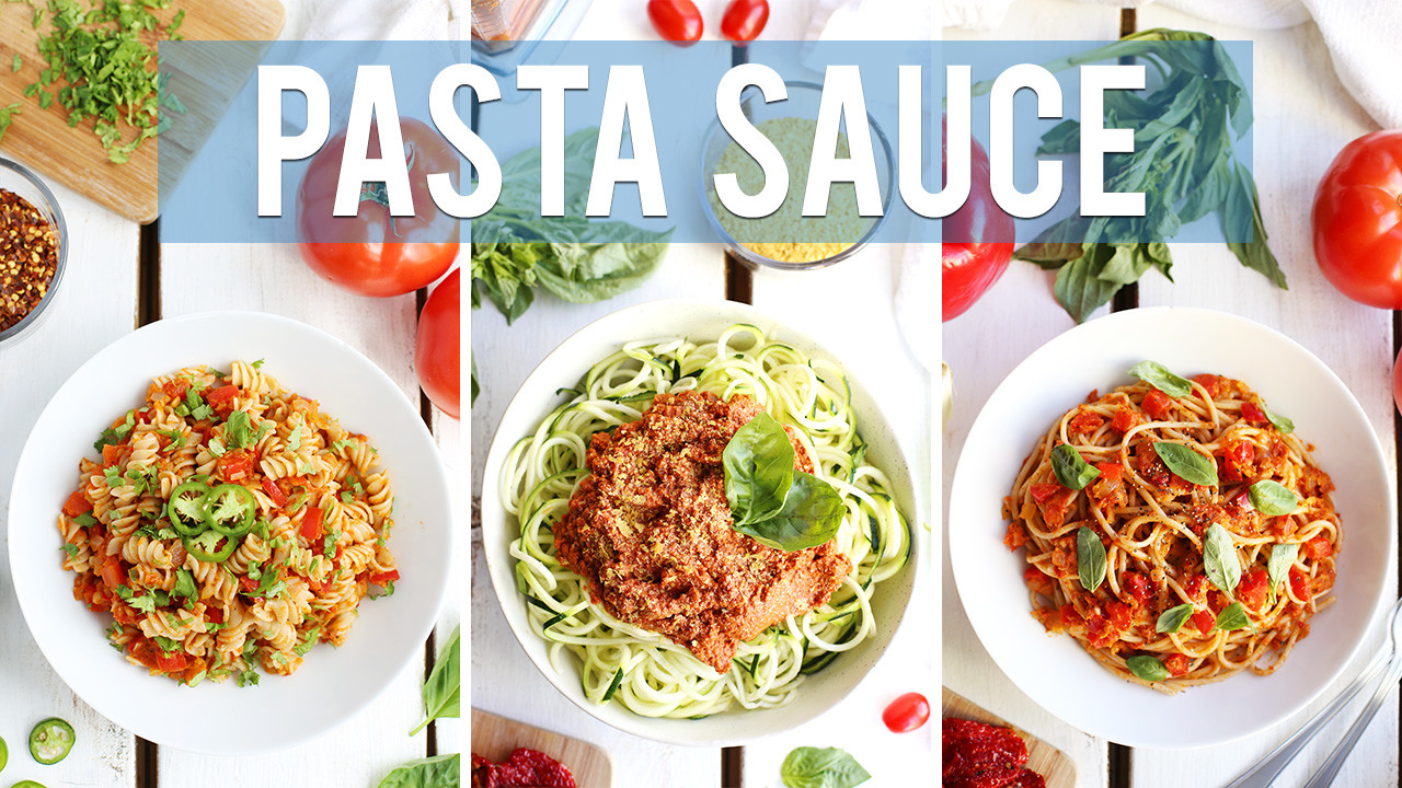 Homemade Pasta Sauce – 3 Ways!