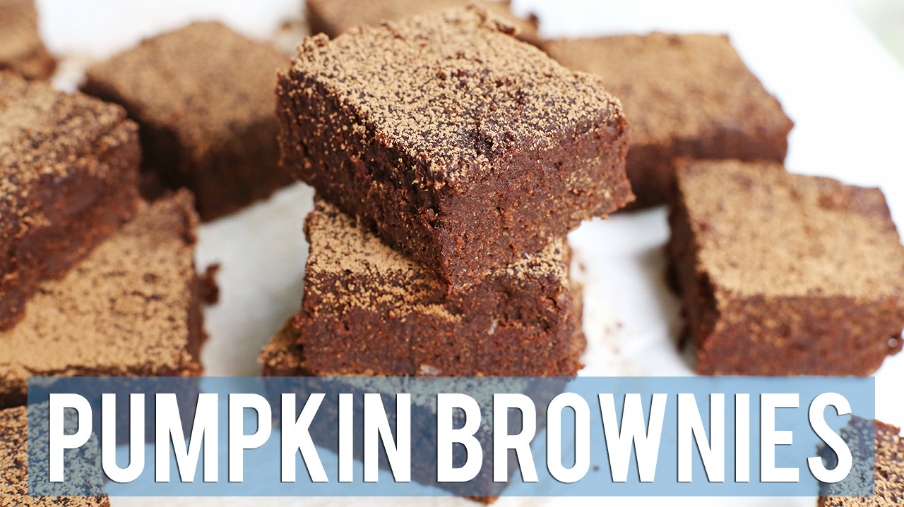 Easy Pumpkin Brownies | VEGAN + GF