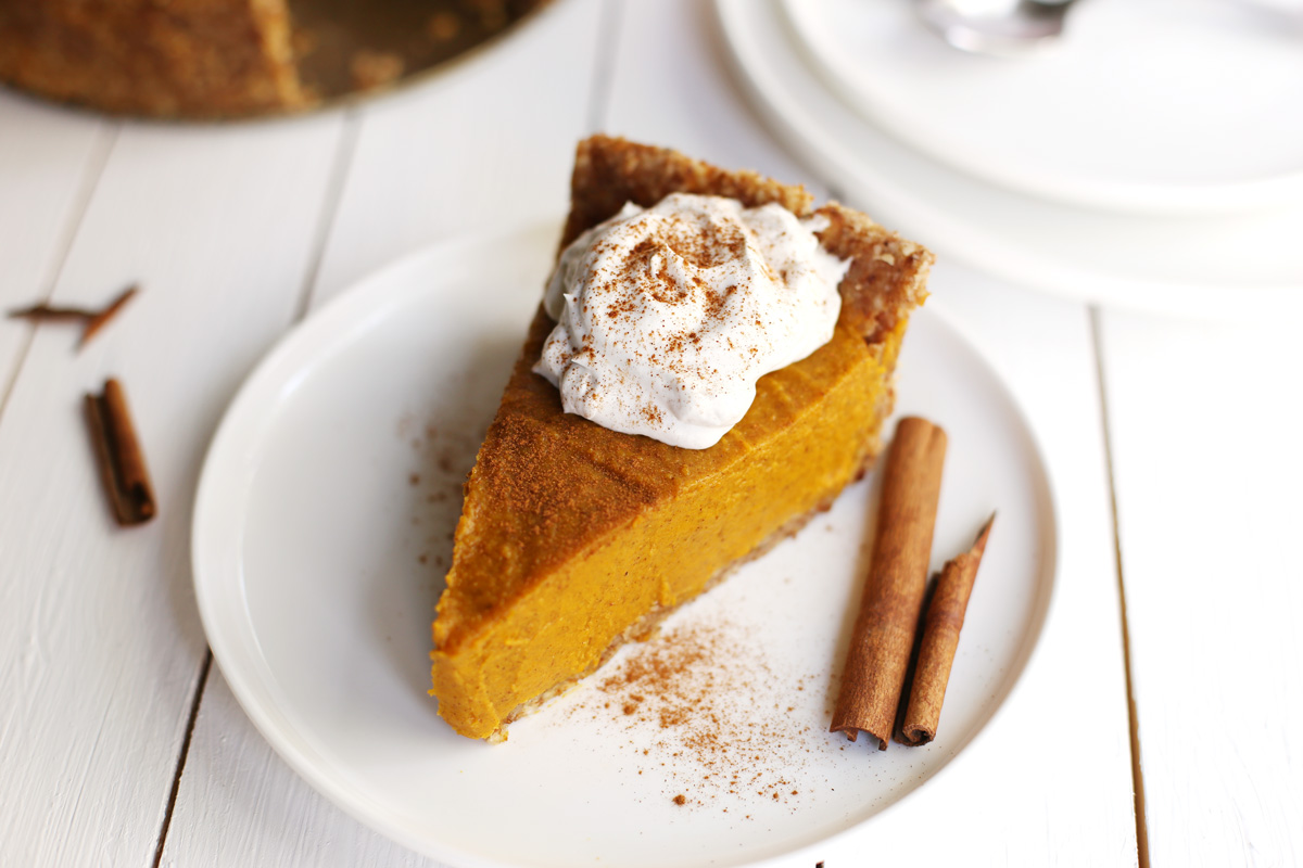 Easy Vegan Pumpkin Pie - Fablunch