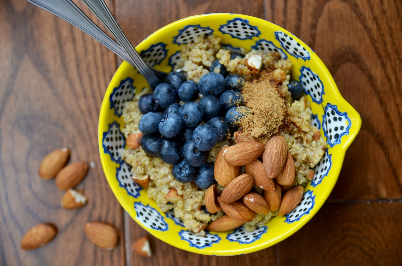 Blueberry & Flax Breakfast Quinoa