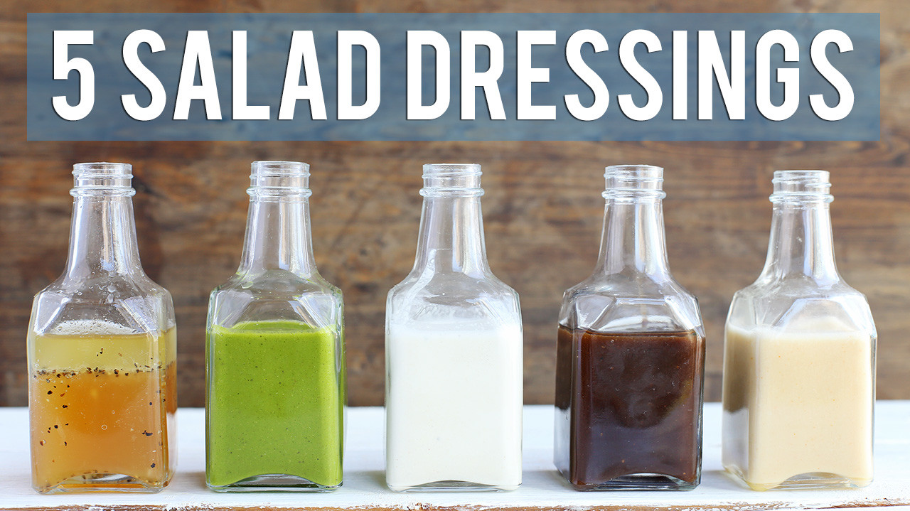 5 Homemade Salad Dressings