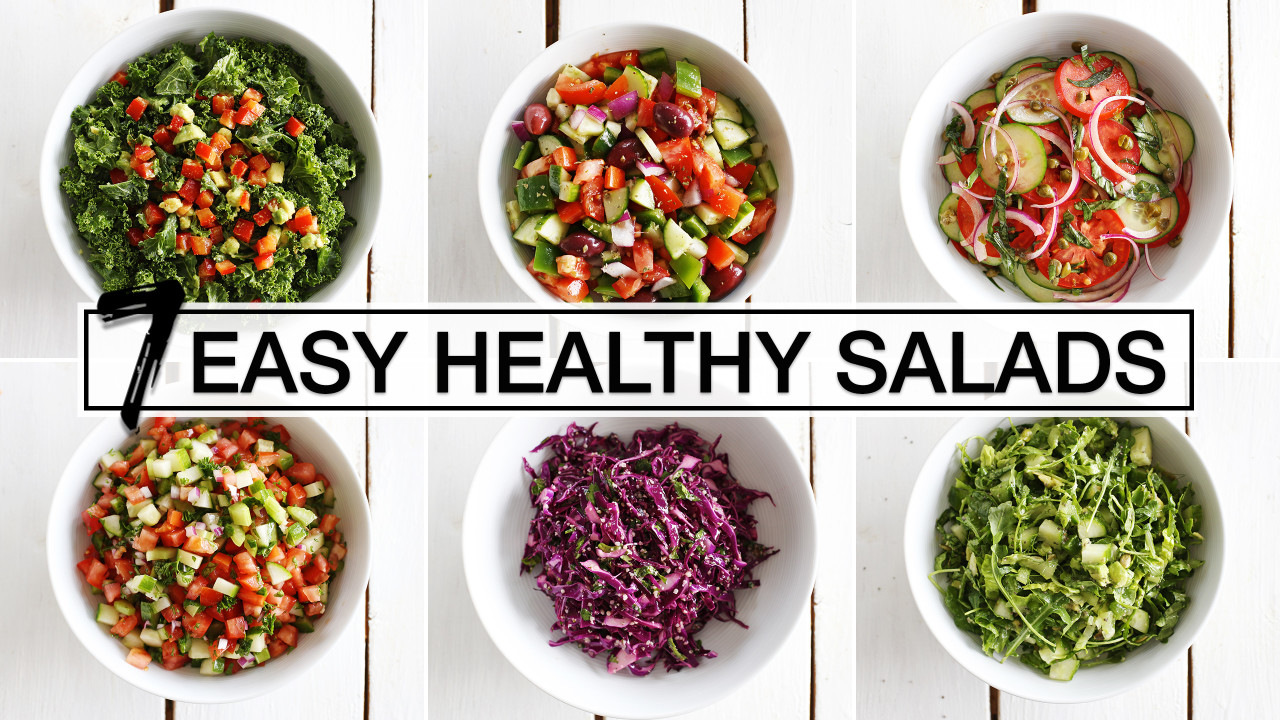 7 Easy + Healthy Salads For Every Day of the Week