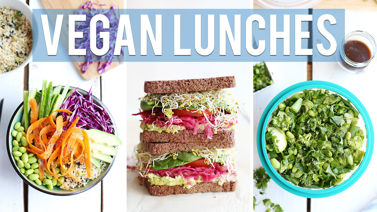 3 Healthy Vegan Lunch Ideas