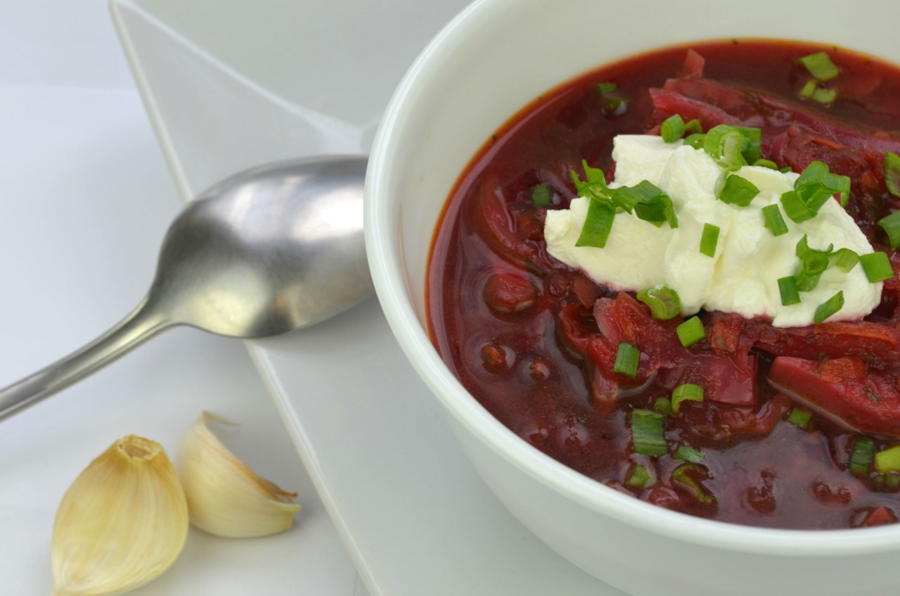 Vegetarian Borscht (Борщ) | Authentic Russian Beet Soup Recipe