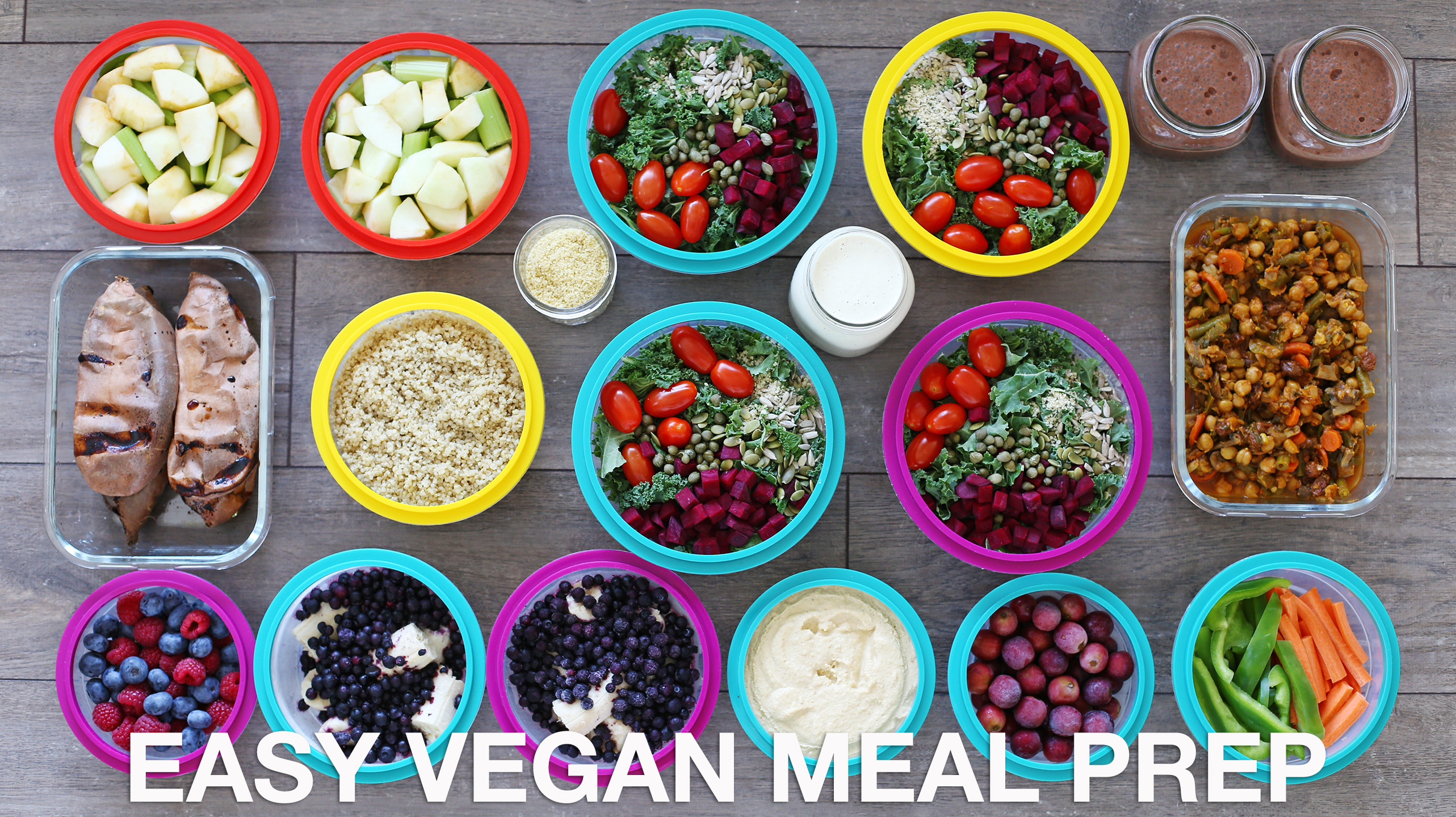 Super Easy Vegan Meal Prep | 12 Healthy Meals + Snacks - Fablunch &QX44